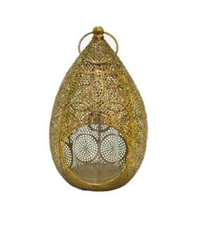 Three Hands Gold Metal Lantern Home decor