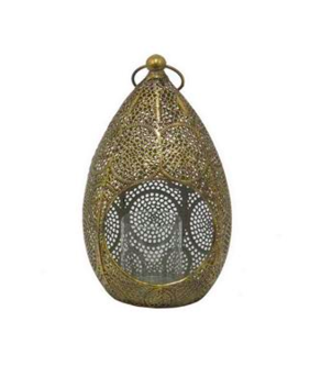 Three Hands Gold Metal Lantern  - Small Home decor