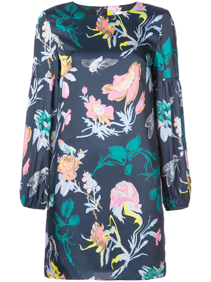 Tibi Gothic Floral Shift Dress Dresses