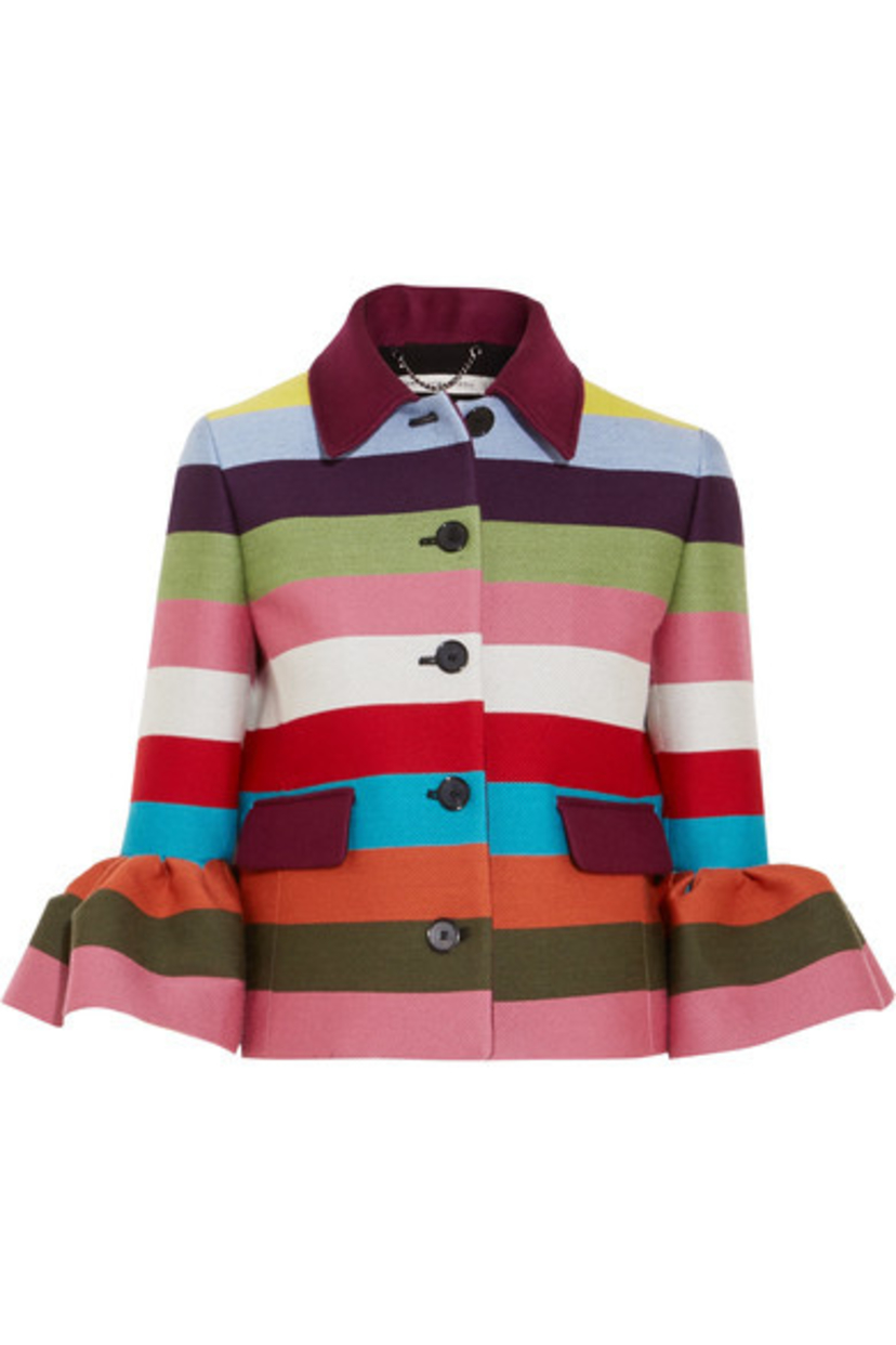 Mary Katrantzou Cuckoo Multi Striped Jacket Outerwear