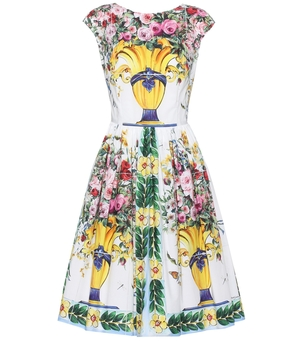 Dolce & Gabbana Floral Printed Cotton Dress Dresses