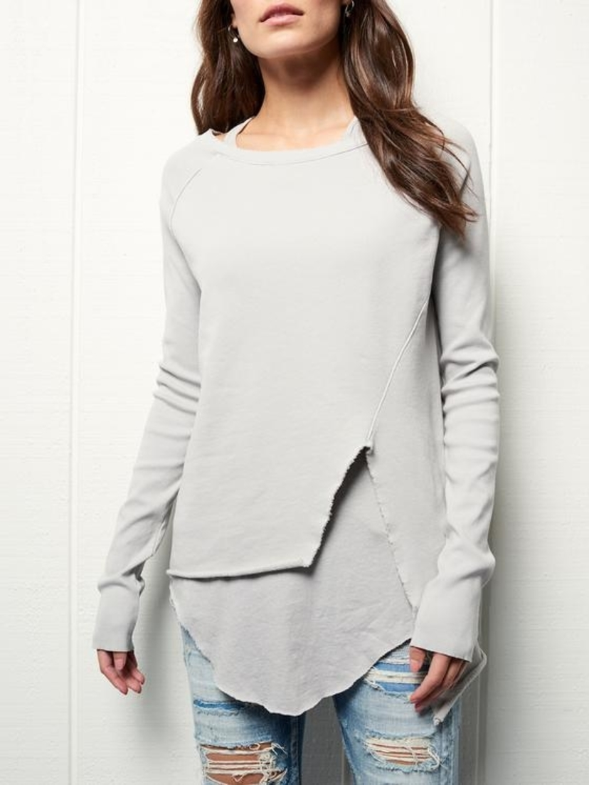 Tee Lab by Frank & Eileen Asymmetrical Sweatshirt Tops