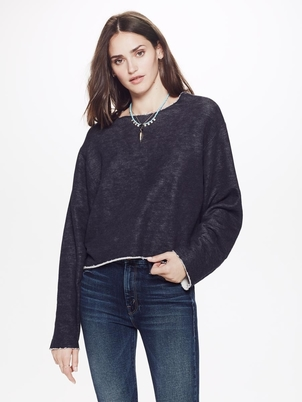 Mother Cut Bubble Sweater Tops