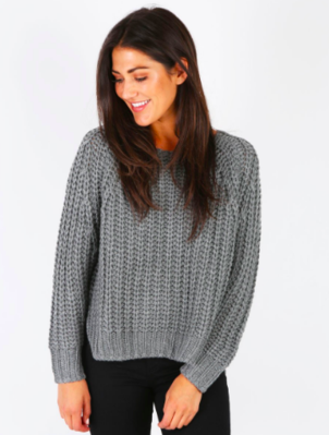 KUT from the Kloth Page Chunky Crew Neck Sweater Tops