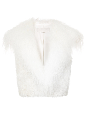 Monse Ivory Shearling Vest Tops