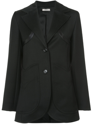 Nina Ricci Black Wool Whipcord Jacket (Originally $1,890) Outerwear Sale