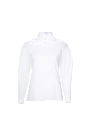 Delpozo Draped Collar Shirt Tops