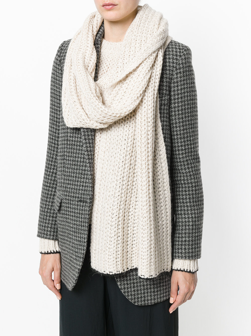 (Nude) Nude Chunky Knit Scarf Accessories