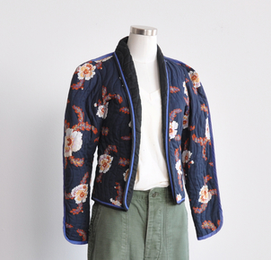 Just Say Native Jeanne Marc Navy Jacket Outerwear