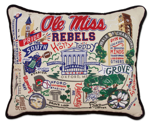 Ole Miss Hand Embroidered Pillow Gifts Home decor