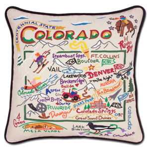 Colorado Hand Embroidered Pillow Gifts Home decor