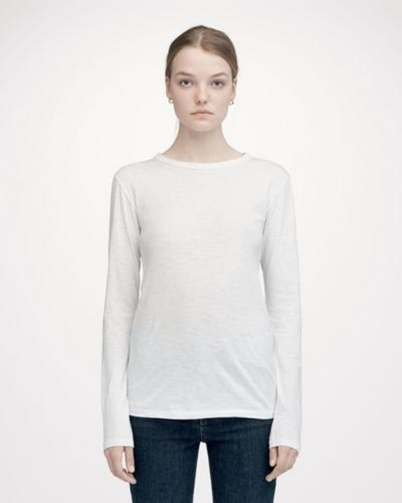 rag & bone The Longsleeve Tee Bright White Tops