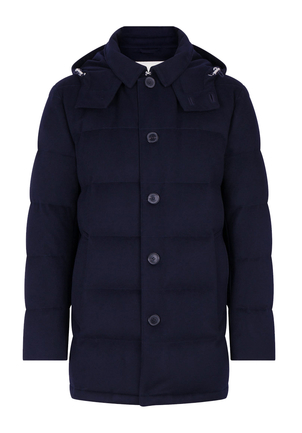 Mackintosh NAVY DOWN WOOL JACKET Men's