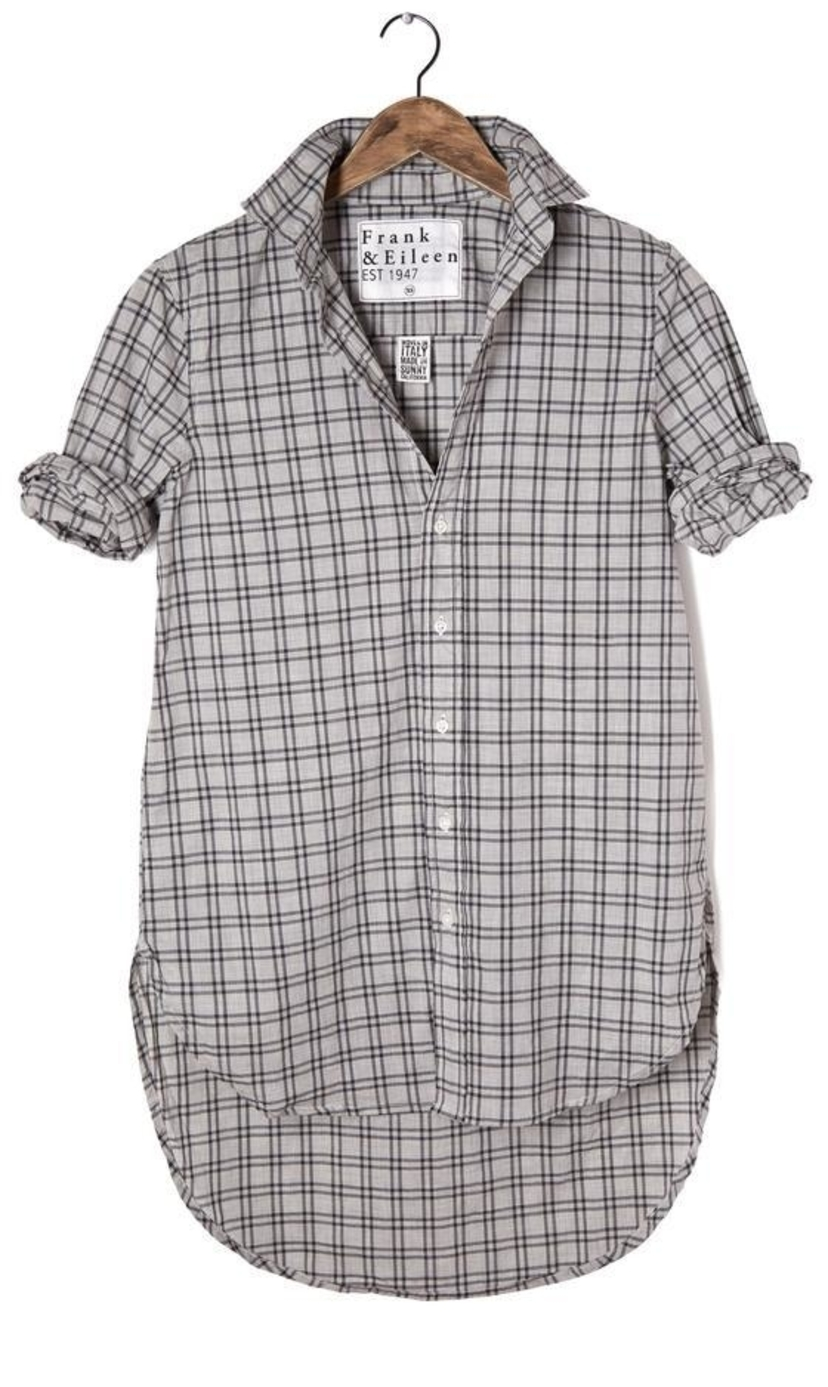 Frank & Eileen Grayson Black Plaid Shirt Tops