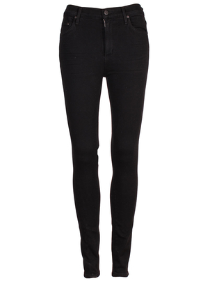 Citizens of Humanity Rocket High Rise Skinny Jean in All Black Pants