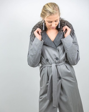 Fabiana Filippi Goose Down Trench Jacket Outerwear