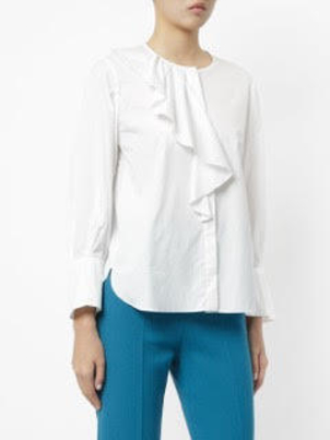 Tomorrowland Ruffle Shirt Cotton Tops