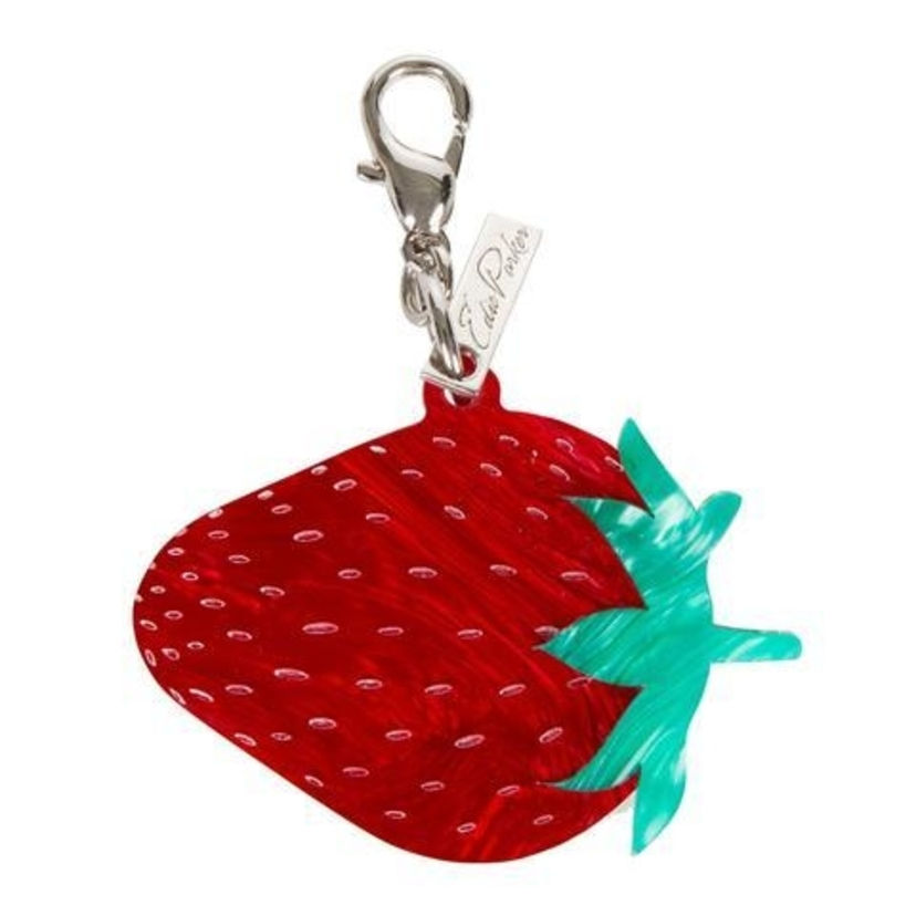 Edie Parker Strawberry Charm Bags