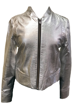 RTA Metallic Leather Jacket Outerwear