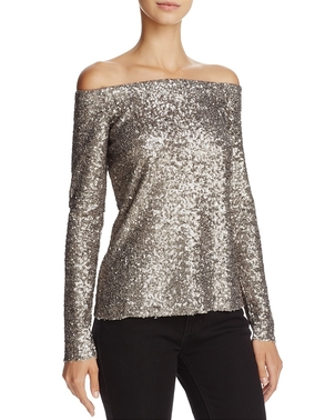 Bailey 44 Sequined Off Shoulder Top Tops