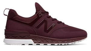 New Balance 574 Sport Maroon Shoes