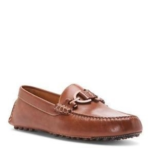 Donald J Pliner Brown Waxy Calf Loafer Shoes