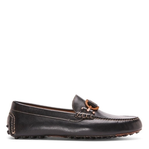Donald J Pliner Black Waxy Calf Shoe Shoes