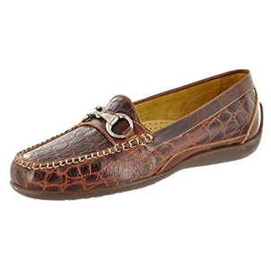 Martin Dingman Saxon Crocodile Grain in Chestnut Shoes