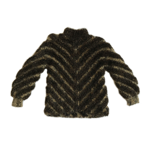Just Say Native Norma Brown Black Zip Sweater Tops