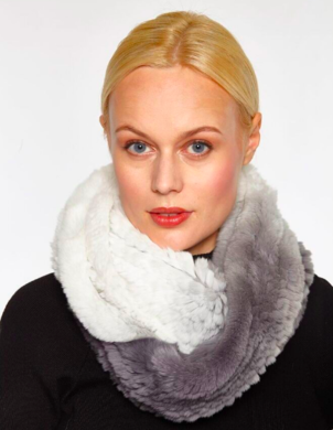 Linda Richards Ombre Fur Infinity Scarf (more colors) Accessories