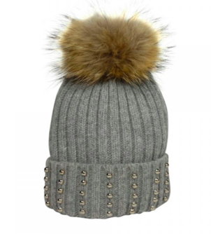 Hat Attack Silver Studded Beanie Accessories