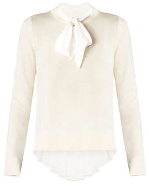 Veronica Beard Concord Sweater Ivory Tops