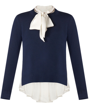 Veronica Beard Concord Sweater Navy Tops