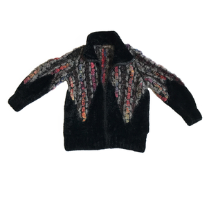 Just Say Native Norma Handknit Chenille Zip Sweater Tops