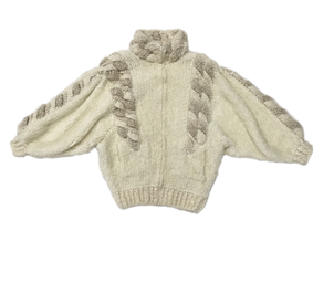 Just Say Native Norma Cream Dolman Sweater Coat Tops