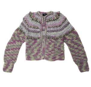 Just Say Native Estelle Gray & Purple Cardigan Tops