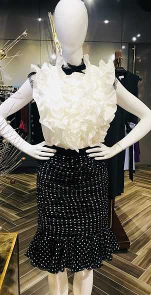 Giambattista Valli Black Polka Dot Skirt