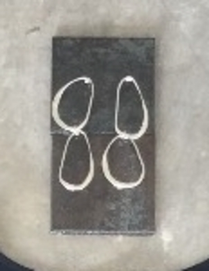Rebecca Pinto Silver Double Hoop Earrings Jewelry