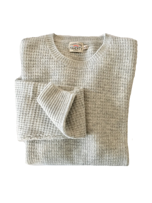 Faherty Brand CASHMERE CREWNECK LIGHT GREY Men's