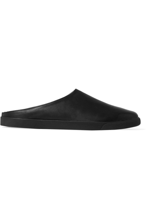 The Row Eric Leather Slippers Shoes
