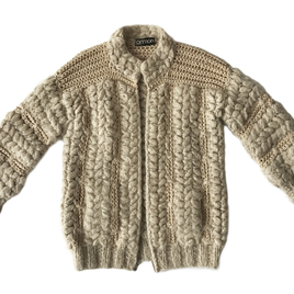 Norma Cream Crochet Zip Sweater