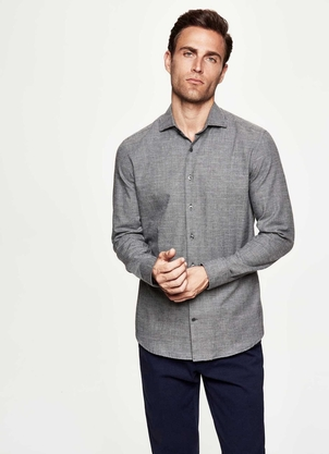Hackett Prince of Wales Flannel Shirt Tops