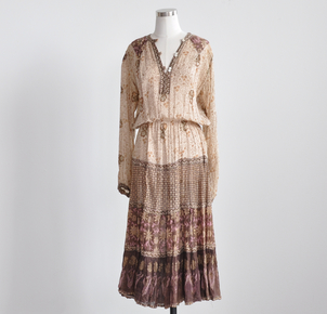 Just Say Native Adini Light Brown Indian Dress Dresses