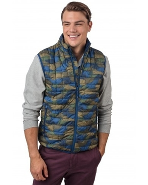Southern Tide Feather Camo Back Country Primaloft Vest Outerwear