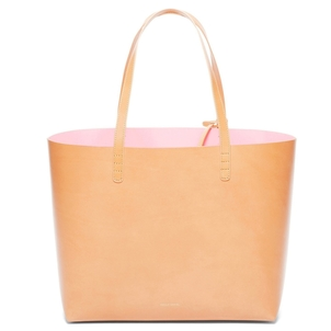 Mansur Gavriel Large Tote in Cammello with Rosa Interior Bags