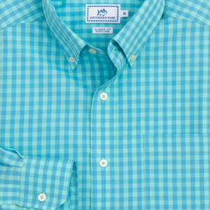 Southern Tide Getaway Gingham Shirt Tops