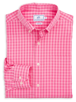 Southern Tide Getaway Gingham Sports Shirt Tops