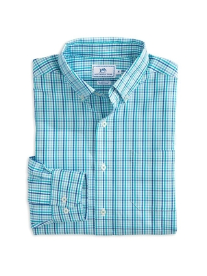 Southern Tide High Shoals Multi-Gingham Sport Shirt Tops