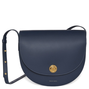 Mansur Gavriel Calf Saddle Bag in Blue Bags
