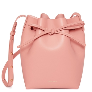 Mansur Gavriel Calf Mini Bucket Bag in Coral Bags